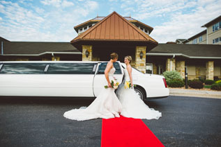 Limousine for wedding